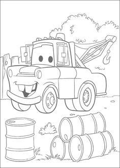 Dessins à imprimer Cars. http://www.coloriage.pequescuela.com/coloriage-peindre-imprimer-cars5.html