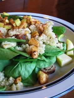 Quinoa, Apple, and Walnut Salad with Turkey Sausage | Fall Recipes | gluten free | egg free | wheat free | dairy free | nut free | soy free | shelfish free |