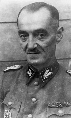 """Dr. Oskar Paul Dirlewanger was the founder and commander of the Nazi SS infamous penal unit """"Dirlewanger"""" during World War II. Dirlewanger's name is closely linked to some of the worst crimes of the war. Dirlewanger was caught in civilian clothes in 1945 and died shortly afterward in prison because of alleged mistreatment."""