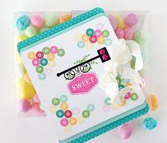 Sweet Shoppe Sentiments Mini Stamp Set: Papertreyink