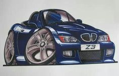 BMW Z3 cartoon