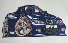 BMW Z3 cartoon