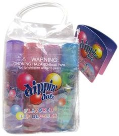 Amazon.com: Dippin Dots 12 Pieces Roll-On Flavored Lip Gloss Set, (Watermelon Ice, Orange Sherbert, Lemon Limr Sherbert, Rasbery Sherbert, Bubble Gum, Cotton Candy): Beauty