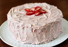 """Strawberry Dream Cake - """"If you could take all the flavor of homemade strawberry ice cream and turn it into a cake, the end result would be this cake.... Pink & dreamy."""""""