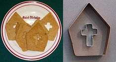 Miter cookie cutter with bonus cross cutter - hee! - 0k, it's supposed to be for St Nicholas, but I'm still amused.
