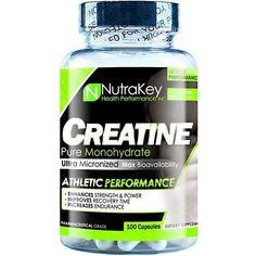 Nutrakey Creatine Monohydrate - 100 Capsules