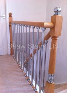 Axxys Chrome Landing Refurbishment Kit Pine Axxys Landing Kits, Handrails, Base Rail and Spindles Pack. [axxys landing kit] - - It's Free! : Shaw Stairs Ltd
