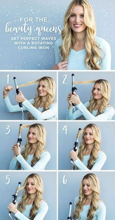 How to Curl Naturally Curly Hair With a Curling Iron – Women Fitness Magazine How to Curl Naturally Curly Hair With a Curling Iron – Women Fitness Magazine,Haare get perfect waves with a rotating. Hair Curling Tips, Curling Iron Hairstyles, Curling Fine Hair, Curling Hair With Wand, Curling Iron Vs Wand, Curls With Wand, Curling Iron Curls, Hair Curling Techniques, 1 Inch Curling Iron