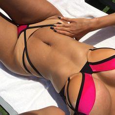 Sexy girl in Bikini The Bikini, Bikini Babes, Bikini Swimwear, Sexy Bikini, Lingerie, Beauty And Fashion, Bikini Outfits, Cute Bathing Suits, Summer Looks