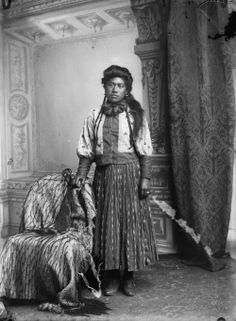 Maori woman from Hawkes Bay district, 1890s - Samuel Carnell of Napier