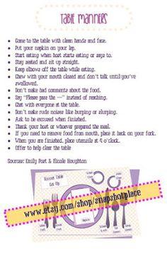 Activity Day Ideas: Activity Days Good Manners School