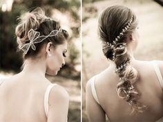 Enfeite para cabelo de laço lateral. Maravilhoso!!!!