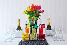 How about a Mimosa Bar...not just for brunch, this would be a perfect addition to any celebration!