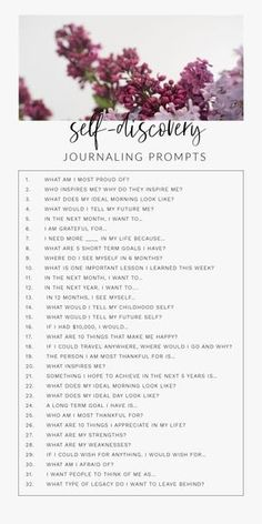 30 Day Journal Prompts For Self-Discovery To Ignite The Best Version Of Yourselfa 30 day daily self-discovery journal writing prompts for adults, for teens, for therapy. These journal prompts will help find happiness, self-love, and Journal Writing Prompts, Journal Prompts For Teens, Bullet Journal Prompts, August Journal Prompts, Bible Bullet Journaling, Journal Topics, Art Prompts, Self Care Activities, Indoor Activities