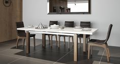 stůl Morlupo, židle Epiro Extension Dining Table, Table, Table And Chairs, Interior Design, Dining, Interior, Conference Room Table, Home Decor, Furniture