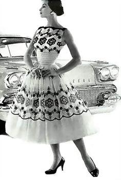 Amazing dress, 1950's