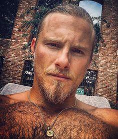 Hairy Men, Bearded Men, Alexander Ludwig Vikings, Men Chest Hair, Paul Freeman, Ginger Men, Blonde Guys, Just Dream, Hairy Chest