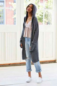 Indah Lush Fringe Maxi Cardigan - Urban Outfitters | Get up to ...