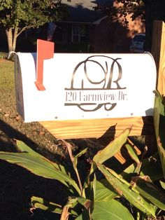 Custom Vinyl Mailbox Decal Monogram by TheVinylFinish on Etsy, $14.00