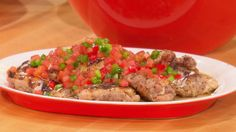 "Emeril Lagasse's Grilled Chicken Thighs with Brazilian ""Vinaigrette"" Salsa"