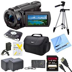 Sony FDRAX33 FDR-AX33 FDR-AX33/B AX33 4K HD Video Recording Handycam Camcorder Bundle With 2 High Capacity Spare Batteries, 64GB High Speed Card, Full Sized Tripod, Deluxe Case, Rapid AC/DC Charger, Micro HDMI Cable, UV Filter, and More review - http://www.bestseller.ws/blog/camera-and-photo/sony-fdrax33-fdr-ax33-fdr-ax33b-ax33-4k-hd-video-recording-handycam-camcorder-bundle-with-2-high-capacity-spare-batteries-64gb-high-speed-card-full-sized-tripod-deluxe-case-rapid-acdc-cha