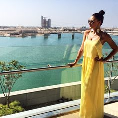 Elegant yet cool for summer. This #yellow #maxidress worn by @ritzajvr is perfect for #travel #wanderlust #dress #wiw