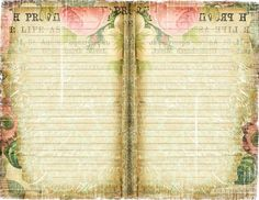 Free Printable Shabby Chic Journal Page ~ Ephemera's Vintage Garden
