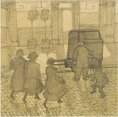 Dora Carrington - Organ Grinder 1914