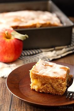 Apple Fritter Cake made with homemade apple pie filling