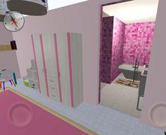 Pasar del dormitorio al baño será un juego