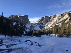 Check out the top 10 Snowshoes/winter hikes in the Rocky Mountain National Park, prepare for the cold and check in with the Park Service before you start. How Much Snow, The Loch, Emerald Lake, Snowshoe, Alpine Lake, Colorado Hiking, Winter Hiking, Get Outdoors, Rocky Mountain National Park