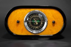 Deco Cord 'Zephyr' Radio with Butterscotch Catalin Front   Radios   Decophobia   20th Century Design