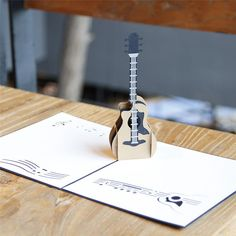 Guitar 3D Pop-Up Card -style3dcard