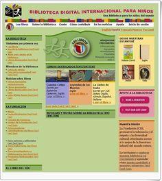 """La """"Biblioteca Digital Internacional para niños"""" contiene, para su lectura online, multitud de libros infantiles en una gran cantidad de idiomas. Es necesario tener en cuenta que, para encontrar los libros en idioma español, es necesario marcar en la """"búsqueda avanzada"""" el idoma español."""
