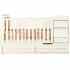 Eden Baby Madison 3 In 1 Convertible Crib In Espresso And White | Pinterest  | Modern Baby Cribs, Crib And Babies