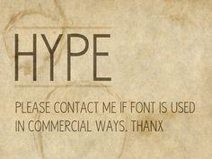 Hype | dafont.com