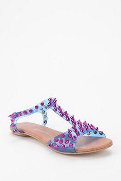 Jeffrey Campbell Puffer Spike-Stud T-Strap Sandal