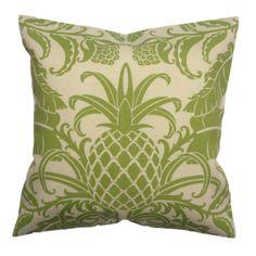 Cojín tela importada- Verde Tropical (45 x 45 cm) - S/55.00