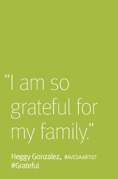In the spirit of the season, Aveda artists share their feelings of gratitude.