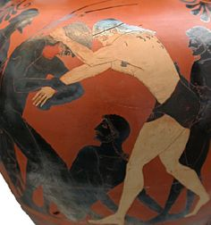 Atalanta and Peleus Wrestling