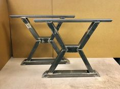 X Design Dining Table Legs, Heavy Duty, Sturdy Set of 2 Steel Legs Dining Table Legs, Table Bases, Tables, Welded Furniture, Industrial Shelving, Wooden Tops, Welding, Pictures, Design