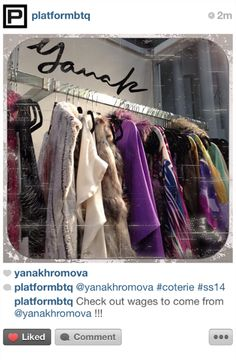 Thank you Platform boutique for stopping by the Yana K booth at Coterie! Everyone pick up your unique Yana K pieces at Platform Boutique!   #clothes #newyork #downtown #highend #style #fashion #design #solid #silks #prints #new #love #losangeles #madeinusa #fashiondesign #fauxfur #chicago #platformbtq #life #2014collection #yanak