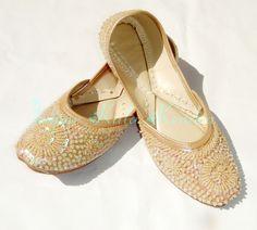 Indian Punjabi Beaded Juti Women's Sandal footwear Shoes Embroidery Jooti |