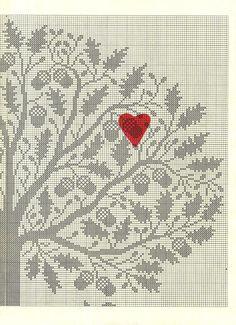 Cross stitch pattern | Acorns 2 | #embroidery #patterns