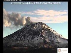 Popocatépetl volcano activity 25-26 Jan 2016