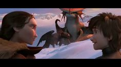 How to Train Your Dragon 2 - Exclusive Clip  hiccup , valka and toothless