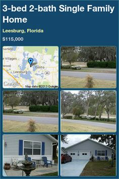 3-bed 2-bath Single Family Home in Leesburg, Florida ►$115,000 #PropertyForSale #RealEstate #Florida http://florida-magic.com/properties/7022-single-family-home-for-sale-in-leesburg-florida-with-3-bedroom-2-bathroom