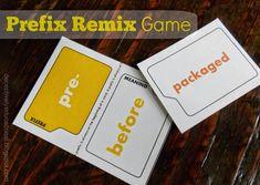 Relentlessly Fun, Deceptively Educational: Prefix Remix (Printable Game)