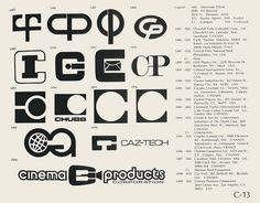 Eric Carl Collection of vintage logos from a edition of the book World of Logotypes jpg Logos Art Director, Typography Logo, Logo Branding, Trademark Symbol, Inc Logo, Brand Symbols, Black Cat Tattoos, Communication Logo, Logo Shapes