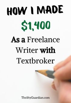 Looking to become a freelance writer? Check out this post on my experience working with Textbroker! Earn Cash Online, Make Money Online, Make Money Fast, Make Money From Home, Sign Up Page, Money Machine, Online Work, Money Tips, Extra Money